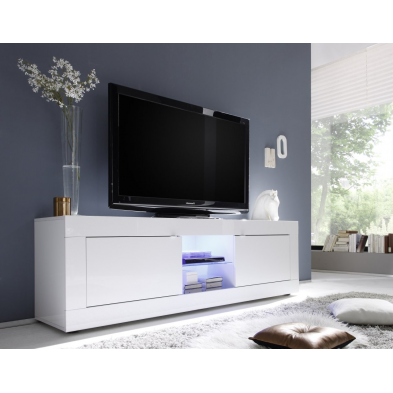 Meuble TV hi-Fi 2 portes/2 niches BERGAME