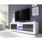 Meuble TV hi-Fi 2 portes/2 niches BERGAME 2
