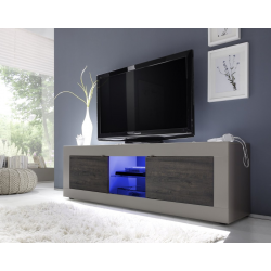Meuble TV hi-Fi 2 portes/2 niches BERGAME 5