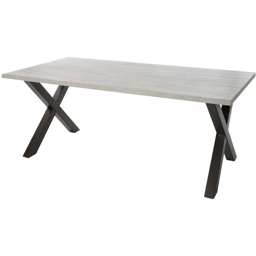 Table de salle manger contemporaine 200 cm dimitri - Table de salle a manger contemporaine ...