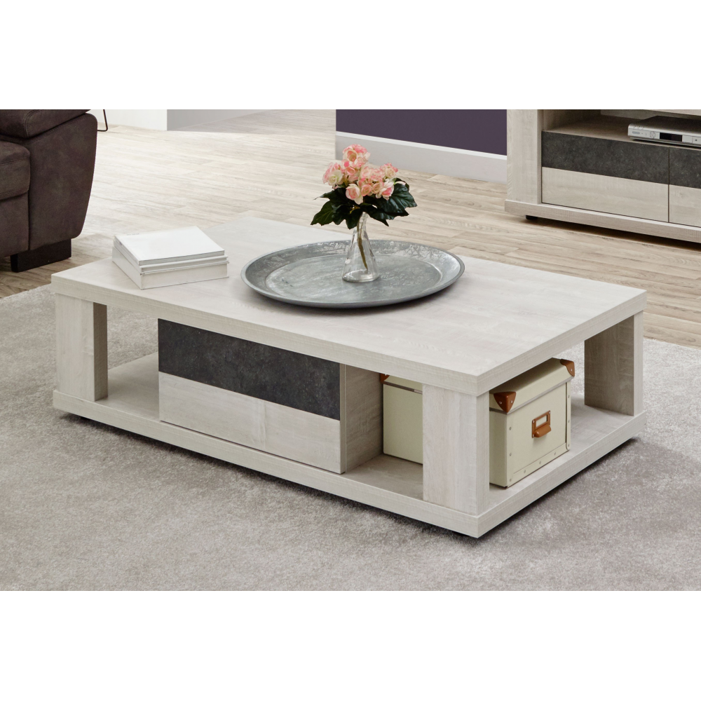 table basse contemporaine 130 cm city - Table Contemporaine