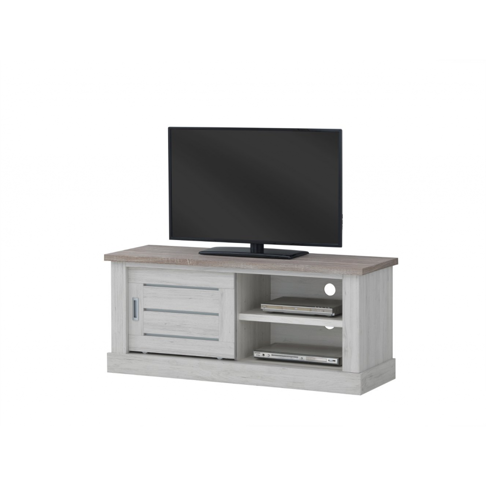 Tv Contemporain 132 Cm Comtesse # Meuble Tv Couleur