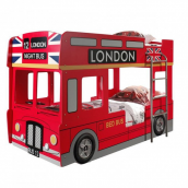 Lit superposé bus londonien Funny 90x200 cm rouge