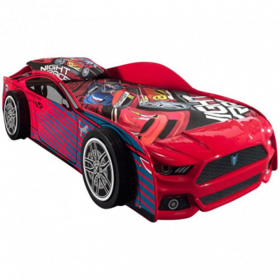 Lit voiture Panther rouge 90x200 cm