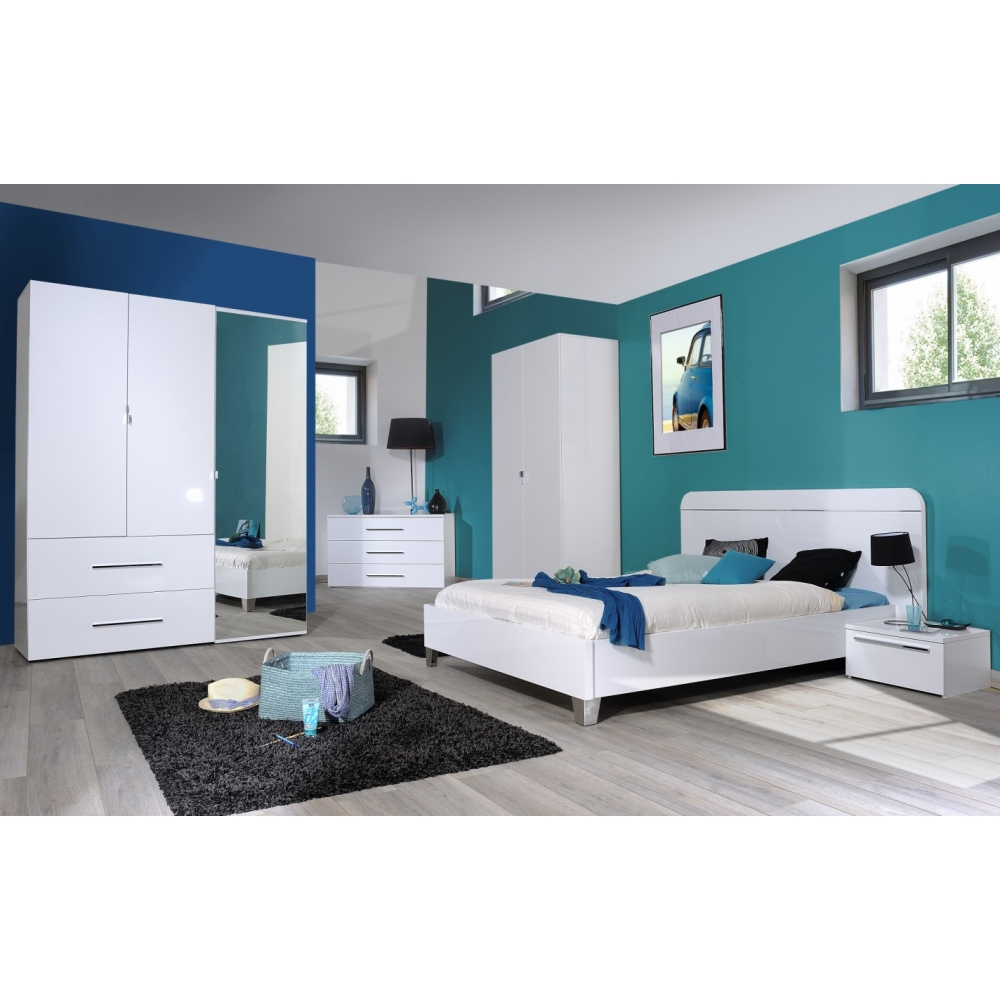 Chambre coucher compl te adulte leader for Chambre complete adulte