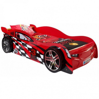 Lit voiture Night Speeder rouge 90x200 cm