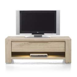 Meuble TV BUCKLEY 120 cm acacia massif H&H