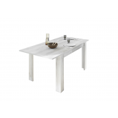 Table à manger extensible rectangulaire TORNADO 137/185x90 cm coloris pin blanchi