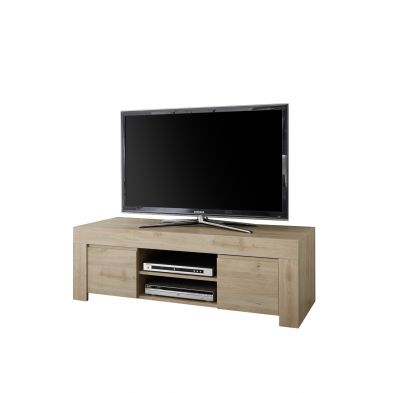 Meuble TV 2 portes 2 niches VINCENZO 138 cm