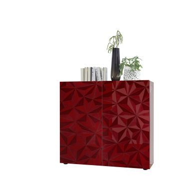Meuble bar 2 portes VENEZIA ROUGE 121 cm