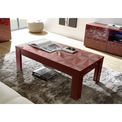 Table basse VENEZIA ROUGE 122/65 cm