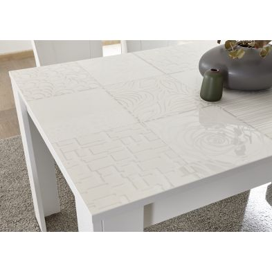 Table basse CARO BLANC 122/65 cm