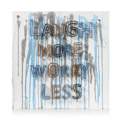 Tableau Laugh More 90 x 90 cm YOUNIQ