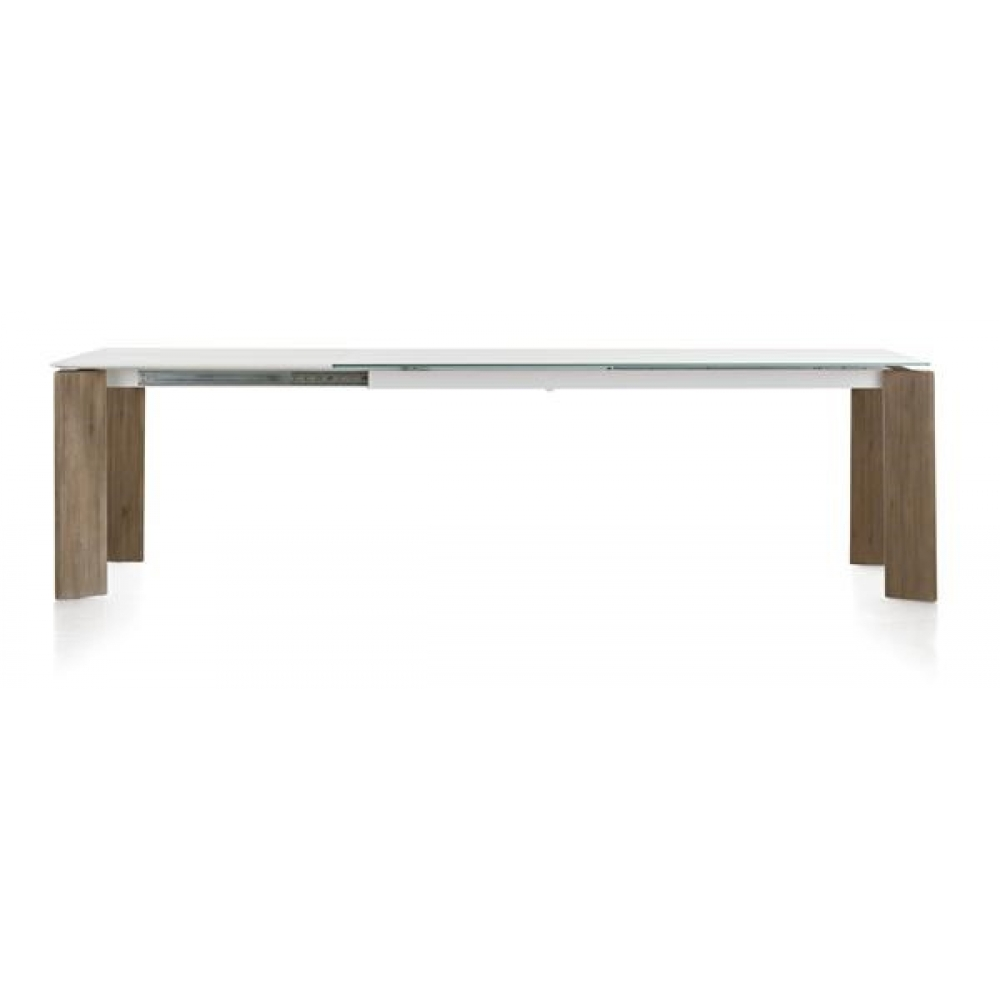 Table avec allonge 160 60 x 95 cm acacia massif kozak h h for Table 160 cm avec rallonge