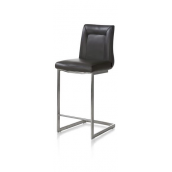 Malvino, chaise bar - inox pied traineau carre + poignee