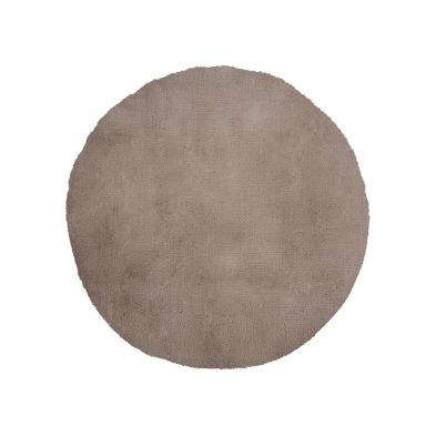 Tapis rond 80 cm My Cha Cha 535 Taupe - super doux