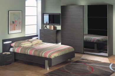 Chambre adulte contemporaine meubles thiry for Chambre contemporaine adulte